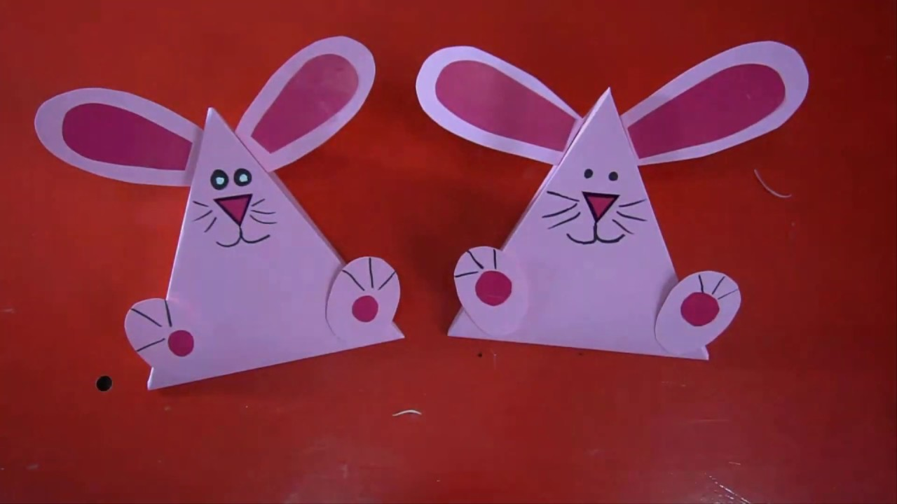 DIY  Box rabbit for a gift do it yourself || paper craft art,Preschool crafts