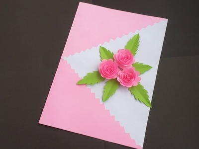 DIY:Handmade Birthday Card!! How to Make Beautiful Paper Card for birthday.Greetings.Valentine day!!
