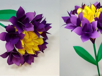 DIY: How to Make Beautiful Paper Stick Flower! Flower Making Tutorial | Jarine's Crafty Creation