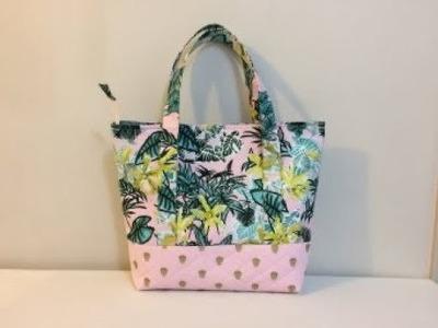 #DIY Lined Zipper Shoulder Bag part 2 of 2 | scratch tutorial
