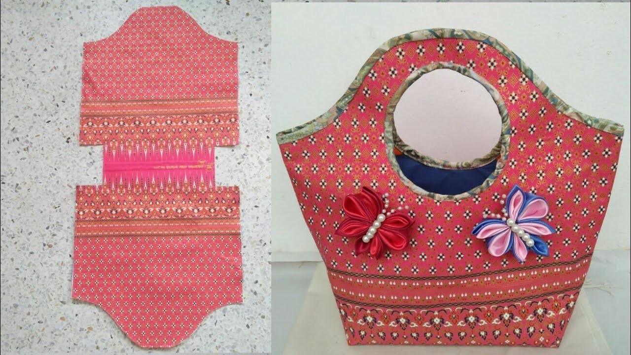 #DIY Thai cloth bag,basket shape|Tutorial great for beginner|คลิปสั้น|รัชนี งานผ้า handmade