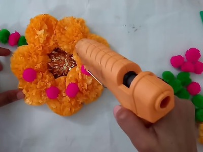 Flower Wall Hanging Making Idea For Room Decoration | CraftLas