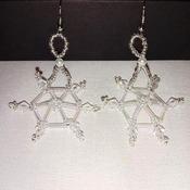 Handmade Snowflake Earrings
