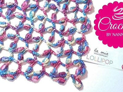 HOW TO CROCHET AN EASY TRIANGLE SHAWL ???? LOLLIPOP The Crochet Shop by NANNO