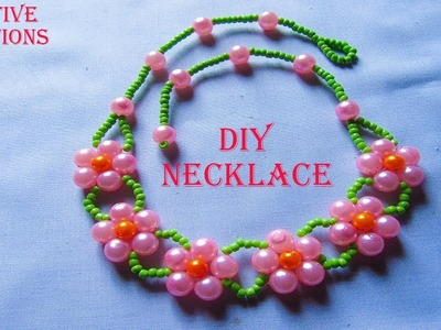 How to make a beautiful Necklace at home by Creative Creations