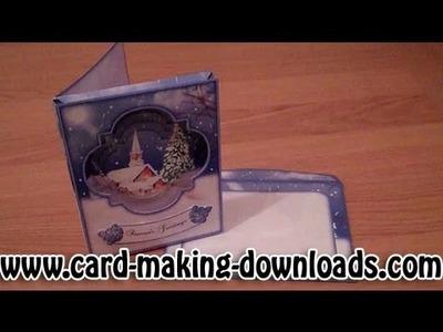 How To Make A Frame Pyramage Card