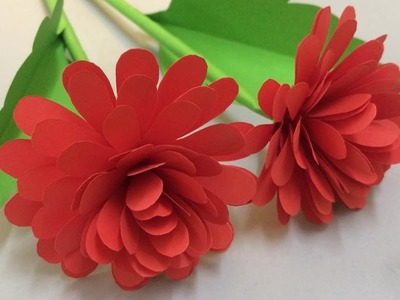 How to Make Beautiful Flower with Paper - Making Paper Flowers Step by Step - DIY Paper Crafts