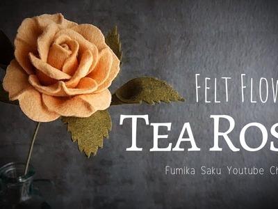 How to Make Felt Flower : Tea Rose