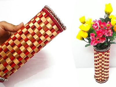 How to make Flower vase from Newspaper at home | DIY Newspaper Craft idea