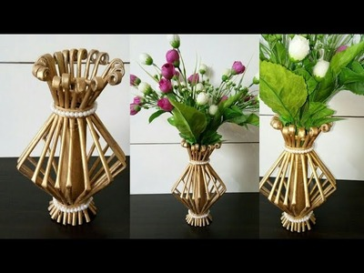 How to make Flower Vase ll Best out of Waste ll Newspaper flower pot ll Newspaper craft