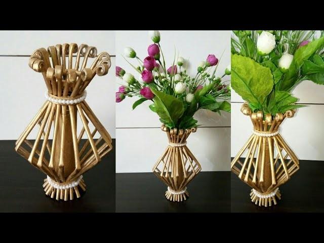 How to make Flower Vase ll Best out of Waste ll Newspaper flower pot ll Newspaper craft