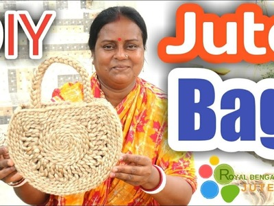 How to make HAND BAG with Jute Braid rope|Jute DIY Craft Idea| #Jute Bag DIY,#Hand Bag