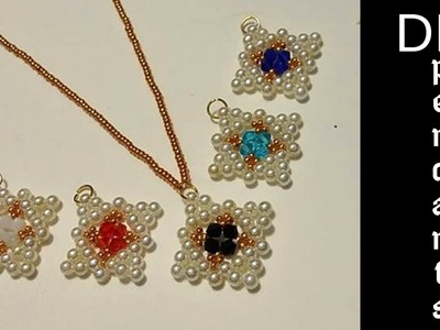 How to make jewelry. DIY Beaded pendants. Tutorial for beginners