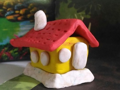 Hut for kids.clay ART for students & kids