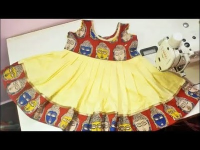 Kalamkari Frock for Kids Cutting and Stitching-Tamil(DIY)