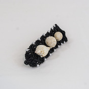 Macrame Hair Barrette with Sea Shells