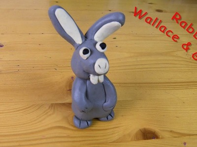 Make Easy Clay Modelling Rabbit from the cartoon Wallace and Gromit