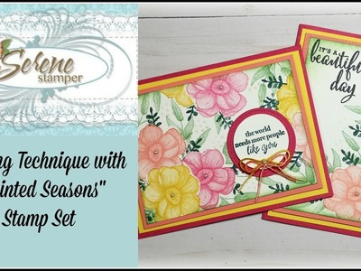 """Masking Technique with """"Painted Seasons"""" Sale-a-bration Stamp Set"""