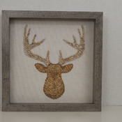 Mosaic Deer Antler Shadow Box