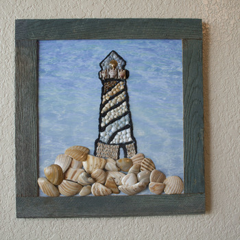 Mosaic Sea Shell Light House