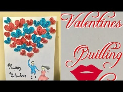 Quilling card for valentines