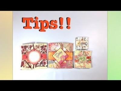 Several Tips & Variations for Napkin Fold Cards