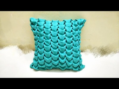 Smocking cushion  (Takia) cover pattern design making at home in hindi capiton cojin punto