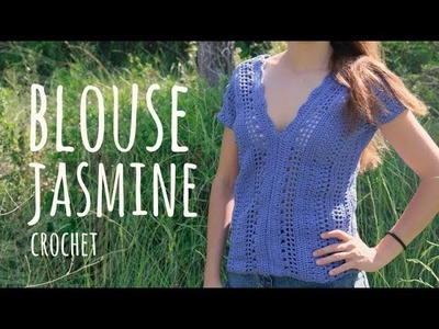 Tutorial Easy Crochet Blouse Jasmine - All sizes | Lanas y Ovillos in English