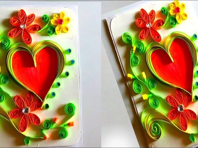 Valentine's day greeting card quilling | valentine's day greeting card | valentine's day crafts