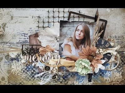 Video tutorial. Layout with new Vintage Remnants collection for 49 and Market