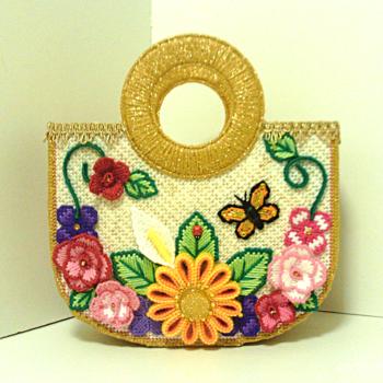 Vintage Style Floral Tote bag