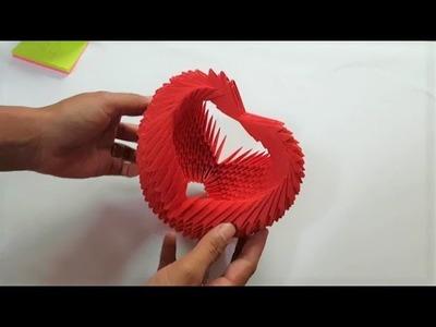 DIY Crafts.How to making paper Flower basket. Crafty how to make paper Flower basket.