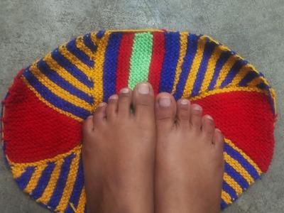 DIY- DOORMAT making at home with old wool. saree || how to knit doormat | Paydaan banane ka tarika