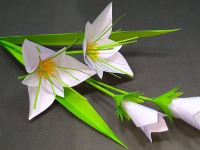 DIY Flower: Easy & Beautiful Paper Stick Flower Homemade Idea!! Flower   Jarine's Crafty Creation