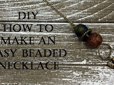 DIY - How to Make an Easy Large Hole Beaded Necklace