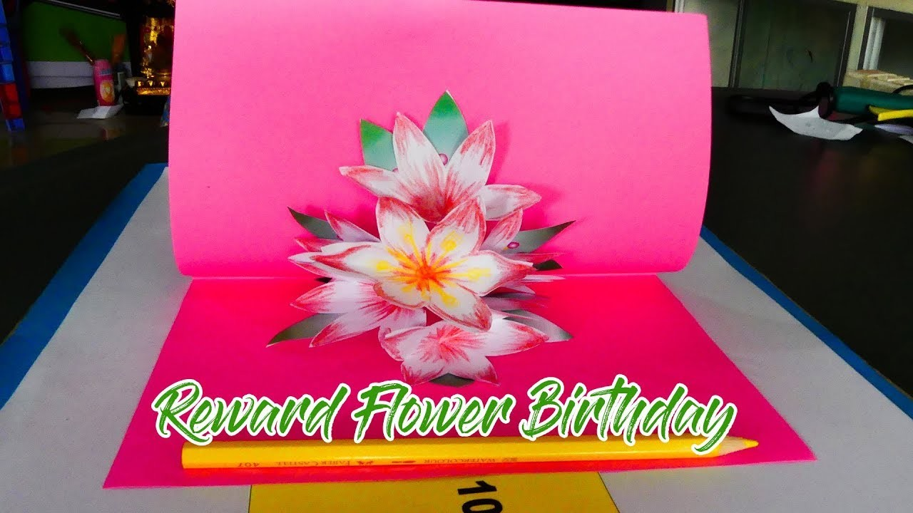 DIY KIDS How to Make a Paper Craft Flower for  Birthday By KH KIDS