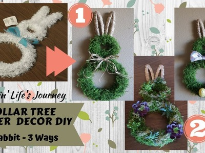 Dollar Tree Easter Rabbit Decor DIY - 3 different looks | Farmhouse, festive, and succulents