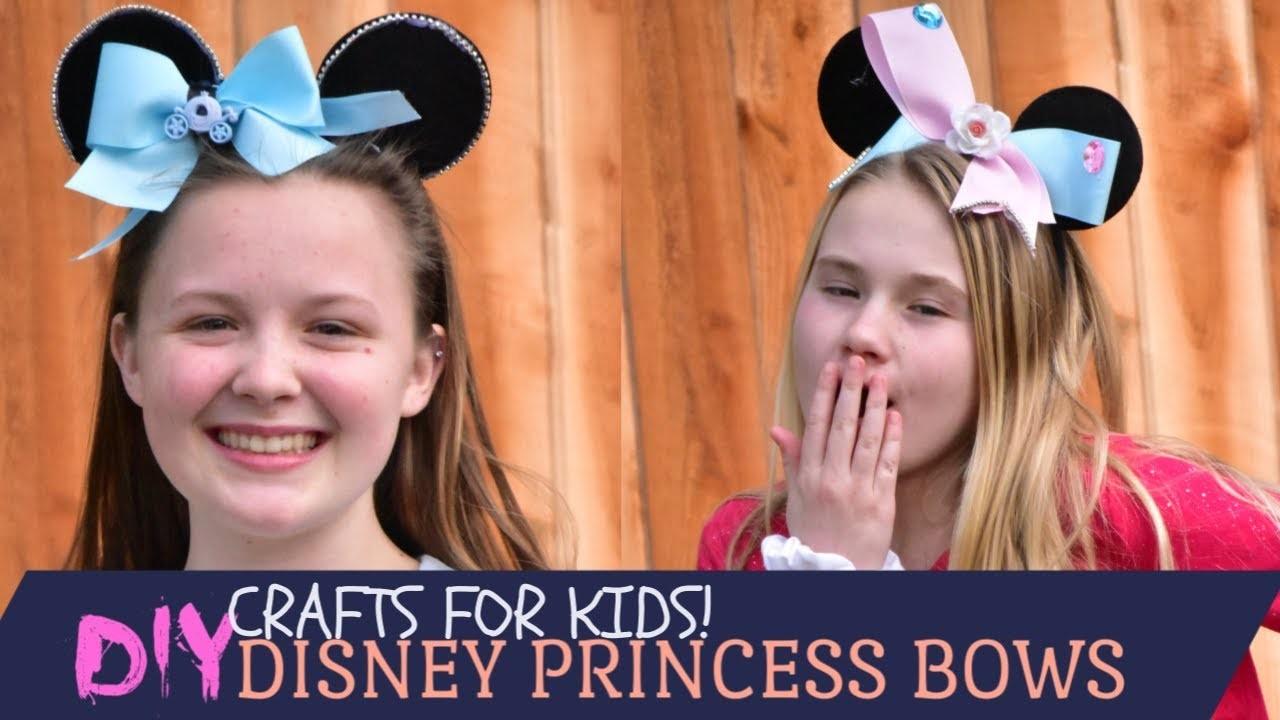 EASY DIY Disney Princess Bows Kids Can Make!