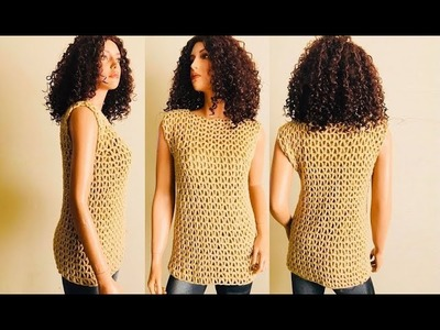 How to Crochet  a Lace Top. Blouse Pattern #918│by ThePatternFamily