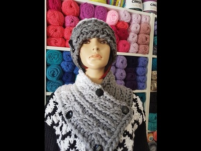 How to finger knit a cable cowl or neck warmer