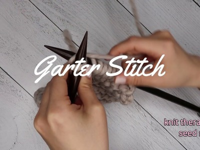 How to knit, start knitting, garter stitch (English)