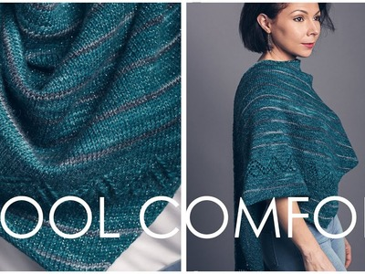 How to Knit the Cool Comfort Shawl - EASY and Customizable