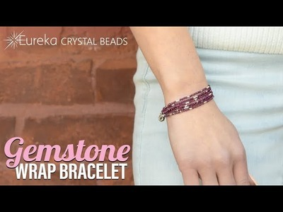How to make a faceted gemstone wrap bracelet