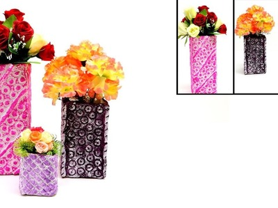 How to Make a Flower Vase from Milk Container
