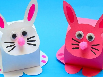 How To Make Paper Bunny Easter Craft Ideas!!!