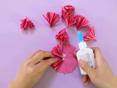 Origami flower - How to make paper flower bouquet, Origami flower ... | 300x400