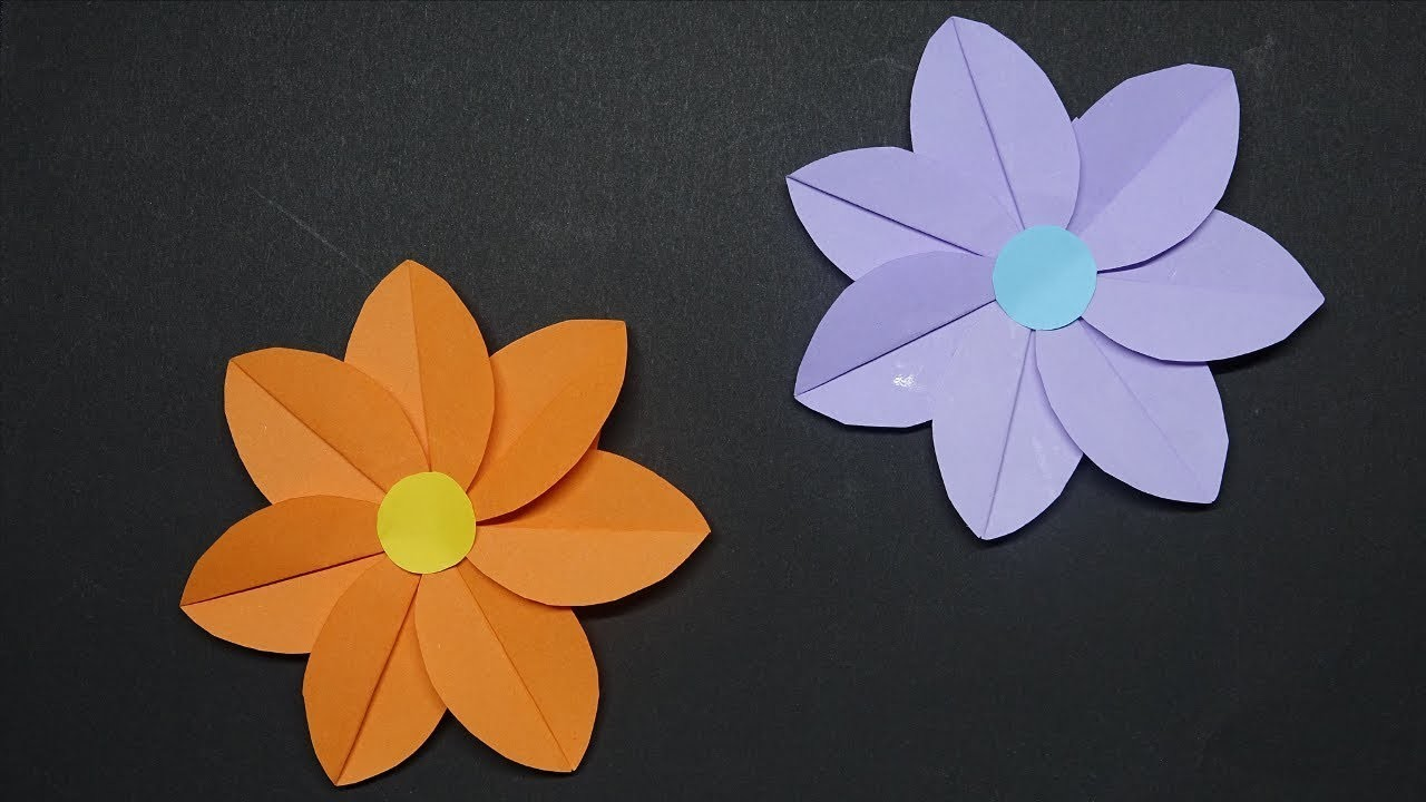 How to Make Paper Flower - Easy! Flower Making - DIY Crafts