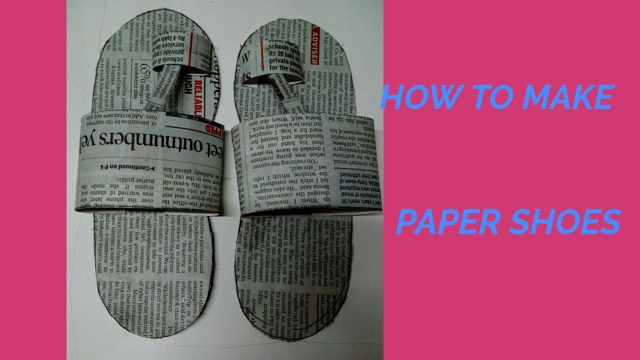 How to make paper shoes. step by step