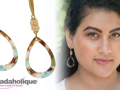 How to Make the Napoli Earrings featuring Zola Elements and Swarovski Crystal Fine Rocks Tube Beads
