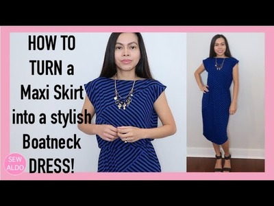 HOW TO SEW A DRESS without Patterns | Sewing Projects for Beginners | SEW ALDO
